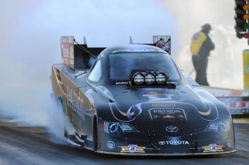 A championship burnout for Alexis DeJoria