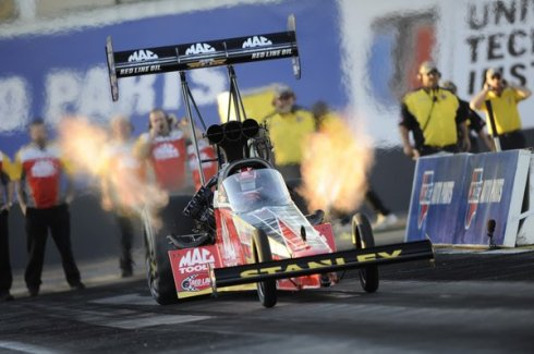 "Doug Kalitta at his Gator Nationals win (photo courtesy AP photo, LA Times ""Sports Now"")"